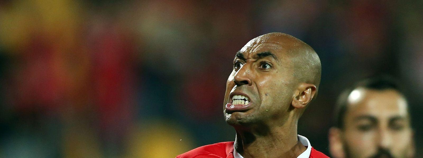 O capitão encarnado Luisão assinala 500 jogos pelo Benfica.