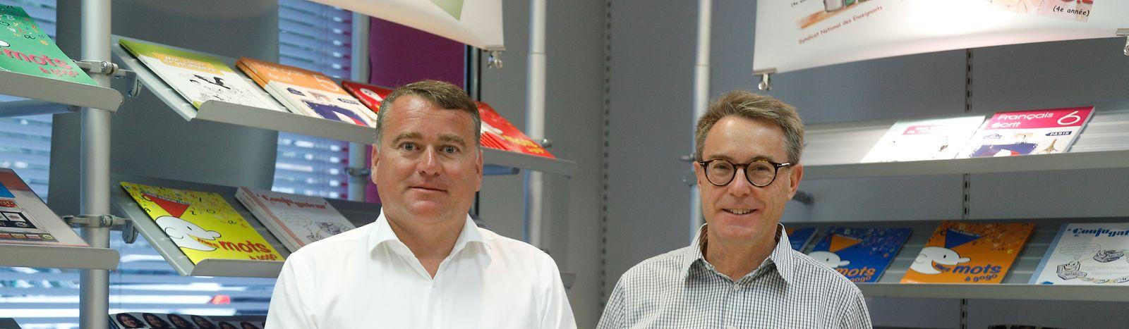 Patrick Remakel, presidente do SNE e Gilles Glesener, secretário-geral do SNE.