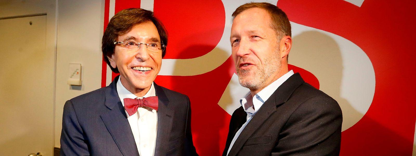 Elio Di Rupo et Paul Magnette. Les deux hommes incarnent le passé et l'avenir du PS.