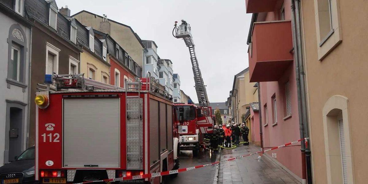 In einem Mehrfamilienhaus war es zu einem Brand gekommen.