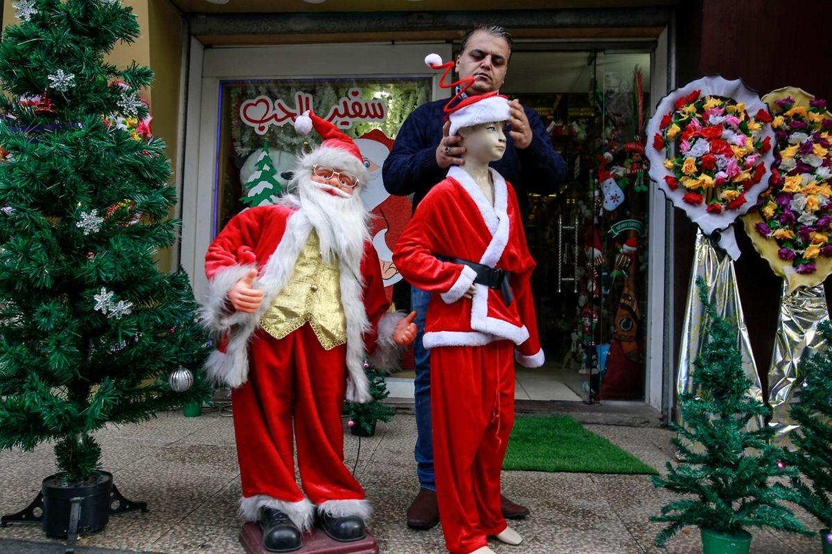 Auch im Gaza-Streifen wird an Weihnachten festlich geschmückt.
