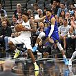 SAN ANTONIO, TX - APRIL 18: Rudy Gay #22 of the San Antonio Spurs grabs a rebound against Jamal Murray #27 of the Denver Nuggets during Game Three of the first round of the 2019 NBA Western Conference Playoffs at AT&T Center on April 18, 2019 in San Antonio, Texas. NOTE TO USER: User expressly acknowledges and agrees that , by downloading and or using this photograph, User is consenting to the terms and conditions of the Getty Images License Agreement.   Ronald Cortes/Getty Images/AFP == FOR NEWSPAPERS, INTERNET, TELCOS & TELEVISION USE ONLY ==