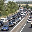 16.7. Stau auf Lux. Autobahnen / Feierabendstau / Stau / -Auto / Lkw / A6 Foto:Guy Jallay