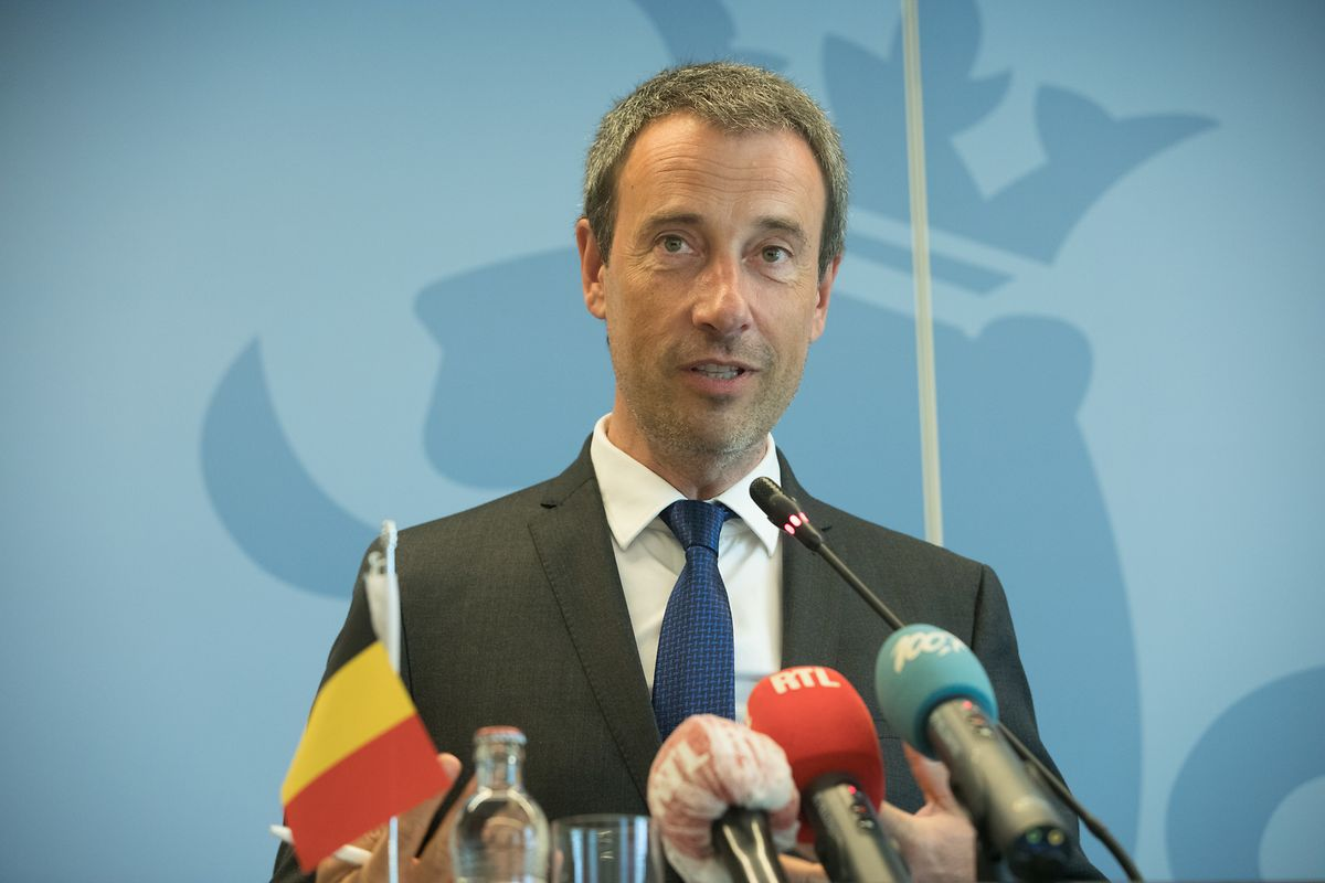 Pressekonferenz mit Philippe Goffin und Jean Asselborn.