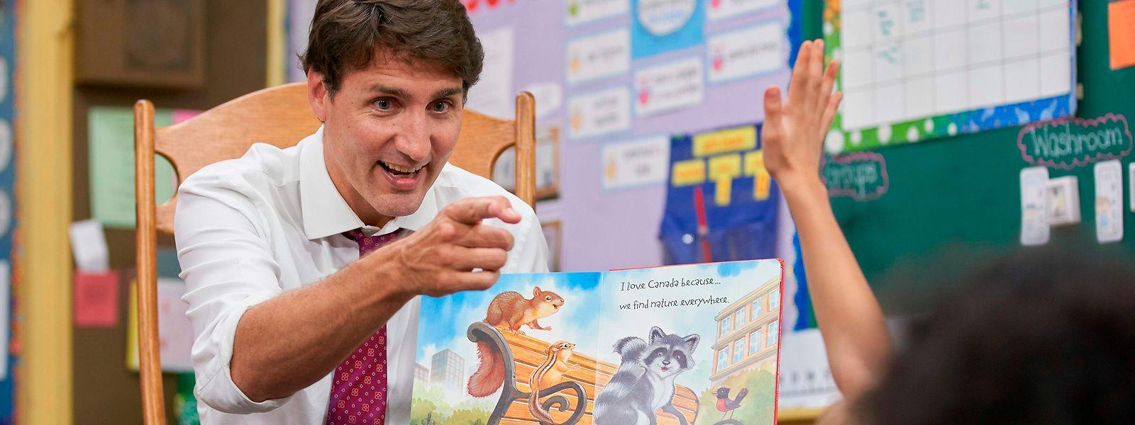 Le Premier ministre canadien Justin Trudeau est en campagne pour les législatives du 21 octobre.