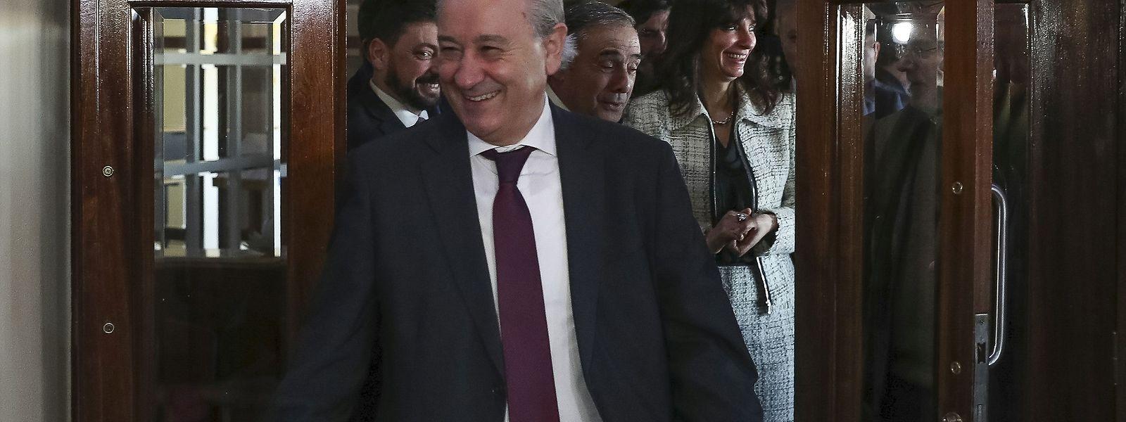 O presidente do PSD, Rui Rio à chegada para a reunião do Conselho Estratégico Nacional do PSD, numa unidade hoteleira em Coimbra, 12 de janeiro de 2019. PAULO NOVAIS/LUSA