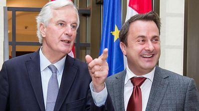 Michel Barnier et Xavier Bettel ont discuté du Brexit ce lundi à l'Hôtel de Bourgogne