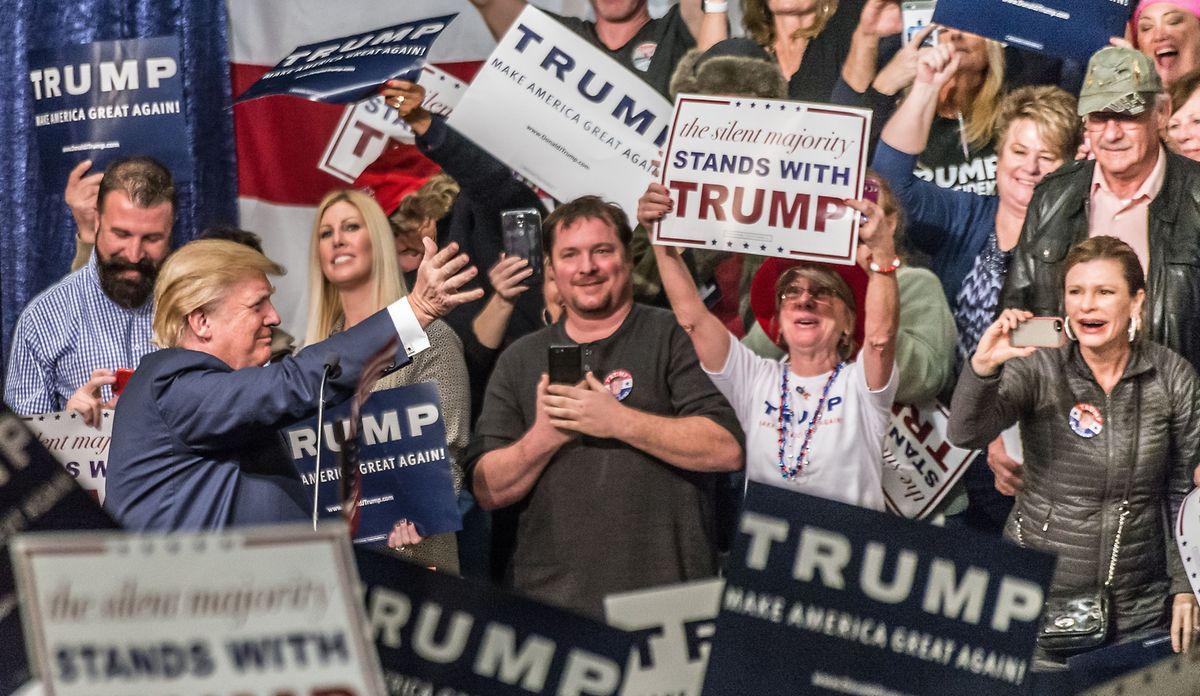 """Trumps Wählerschaft könnte das """"Getöse aus Washington"""" möglicherweise komplett egal sein."""