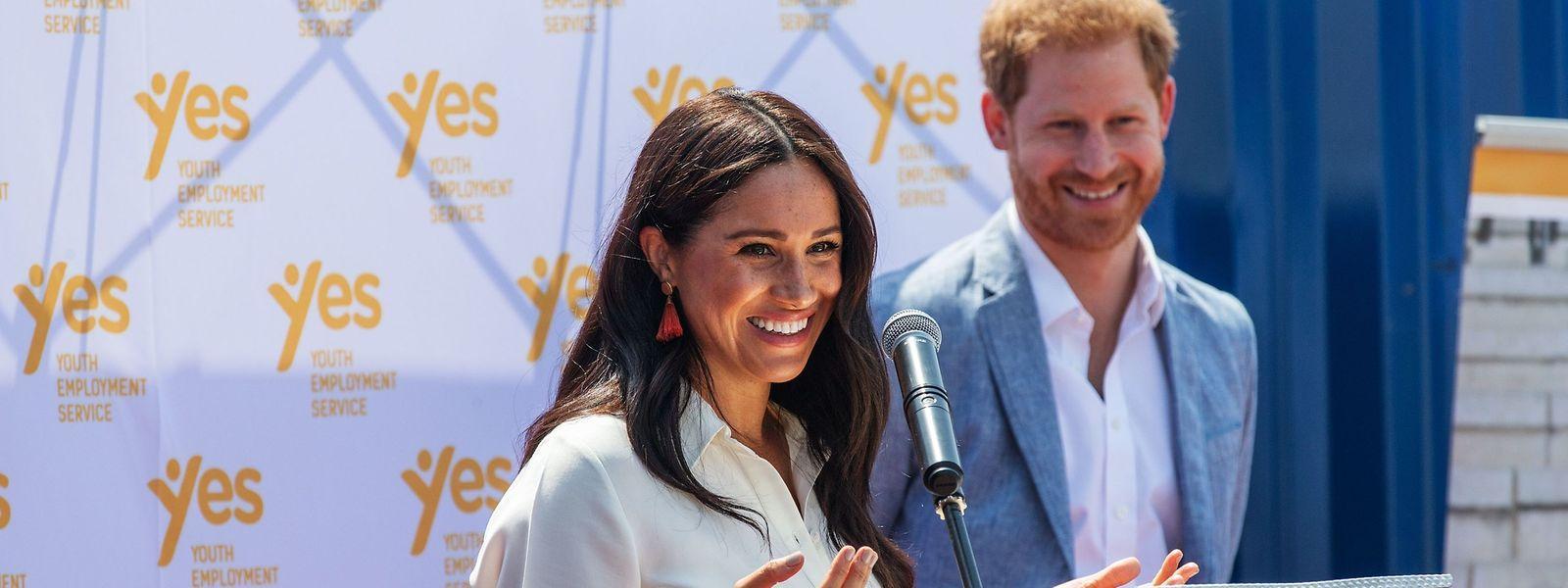 2019: Harry und Meghan bei einer Rede vor dem Youth Employment Services Hub in Johannesburg.