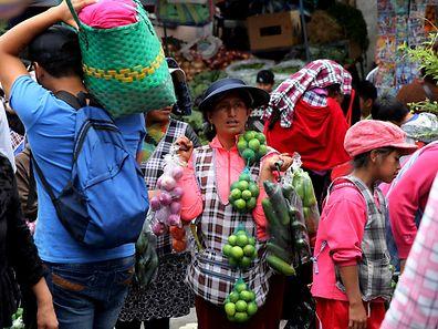 Marktplatz in Quito.