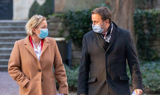 Luxembourg Health Minister Paulette Lenert (left) and Prime Minister Xavier Bettel (right) shown earlier this year.