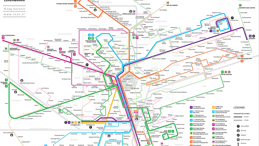 Luxemburger Wort Architect Brings Alternative Bus Map To Luxembourg - Luxembourg map