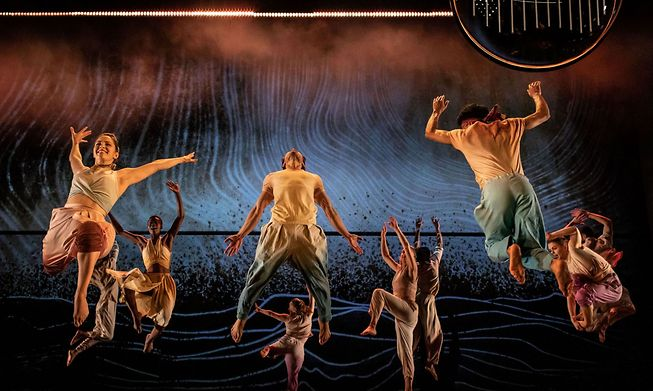 A joyous life before displacement choreographed with fluid synchronicity