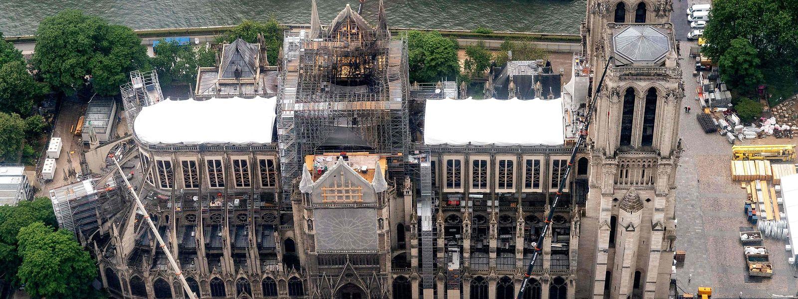 Das Foto aus dem Juni 2019 zeigt das stark beschädigte Bauwerk.