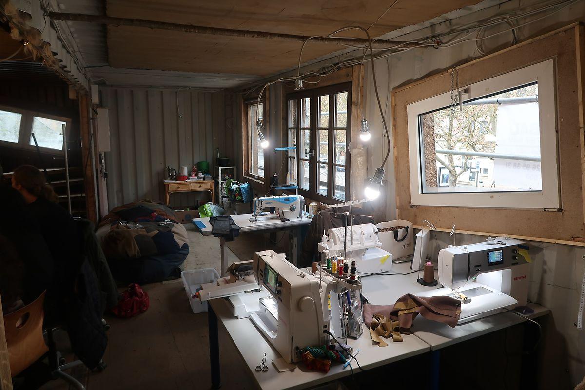 Die Werkstatt befindet sich in einem früheren Container.