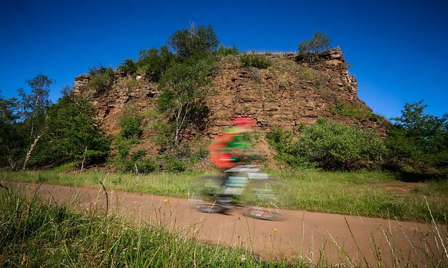 The bike path around Bech traverses an old railway track, and at 13km in length, is perfect for families