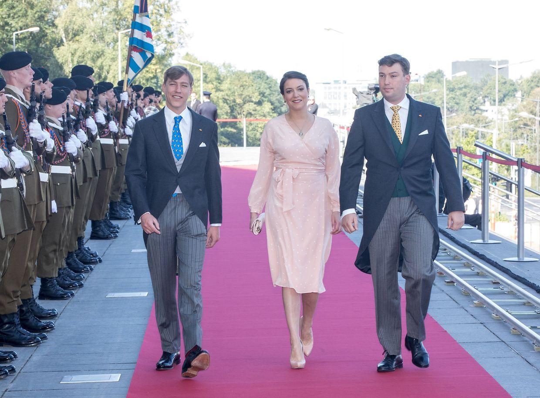Prinzessin Alexandra wurde am Nationalfeiertag 2018 von ihren Brüdern Prinz Louis (l.) und Prinz Sébastien begleitet.