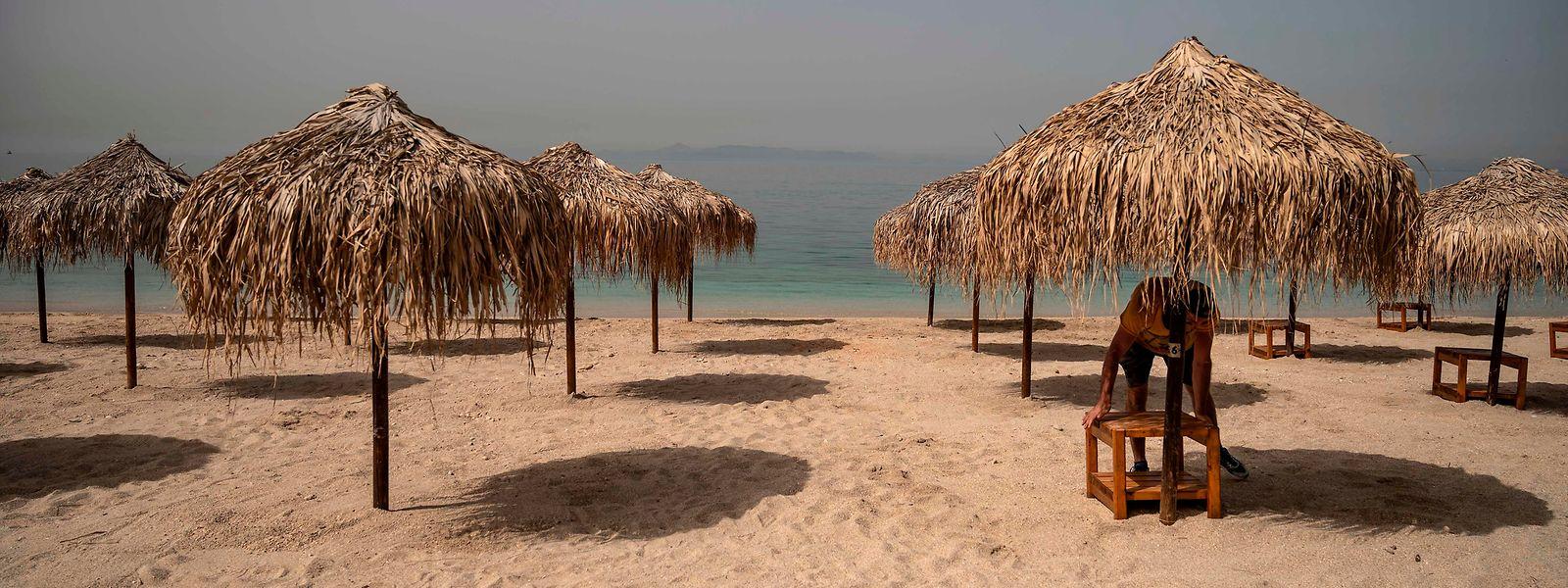 Die Strände in Griechenland warten auf die Badegäste.
