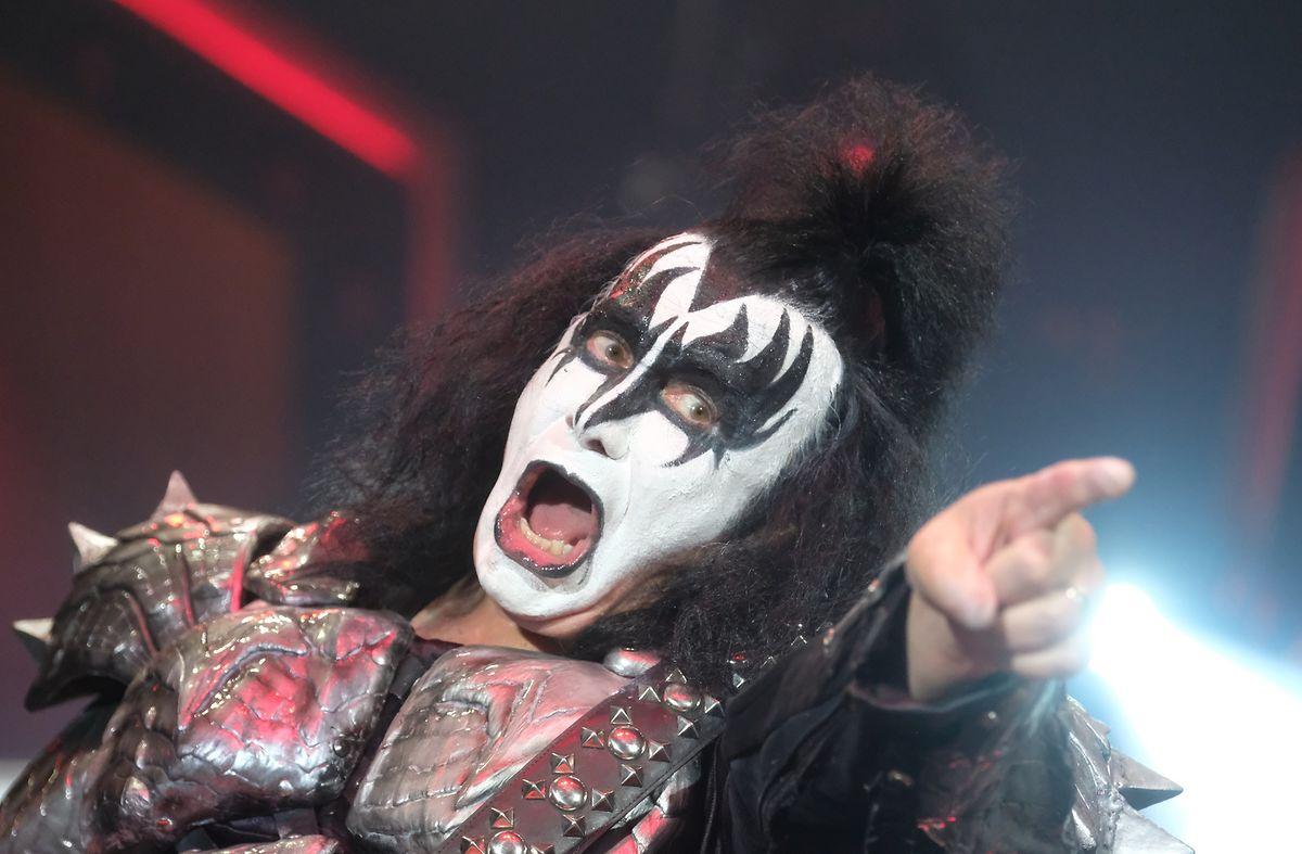 """Der Musiker Gene Simmons von der US-amerikanischen Band """"Kiss""""."""