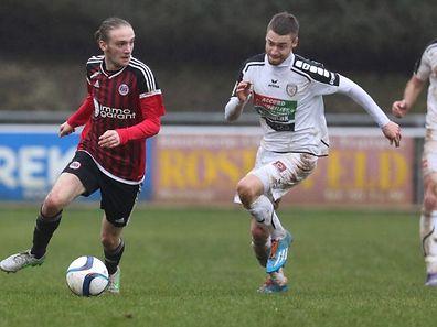 Sam Alverdi, balle au pied, va tenter de franchir un cap en signant à Strassen