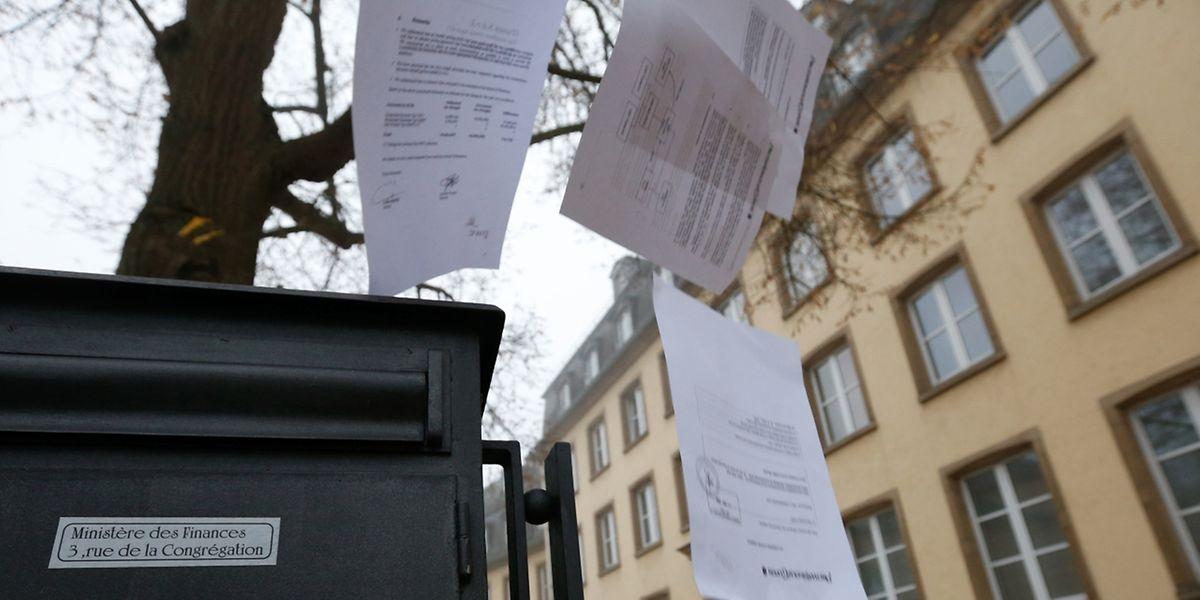 LuxLeaks , Les rulings de l�obscurit� � la lumi�re, Ministere des Finances, Luxembourg. le 02 Novembre 2015. Photo: Chris Karaba