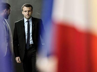 Der frühere Wirtschaftsminister Emmanuel Macron und jetzige Präsidentschaftskandidat