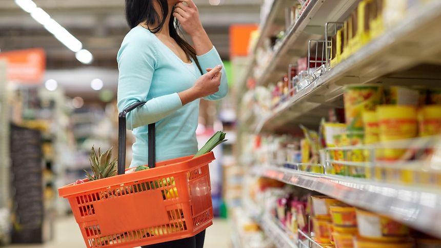 A woman shopper.