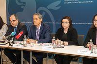 Die IWF-Experten unter der Führung von Emil Stavrev (Mitte) warnen vor Risiken für die luxemburgische Wirtschaft.