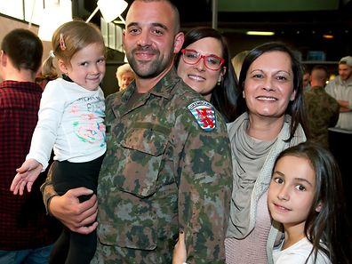 Empfang für die Kosovo-Friedenstruppe KFOR 49 auf dem Findel