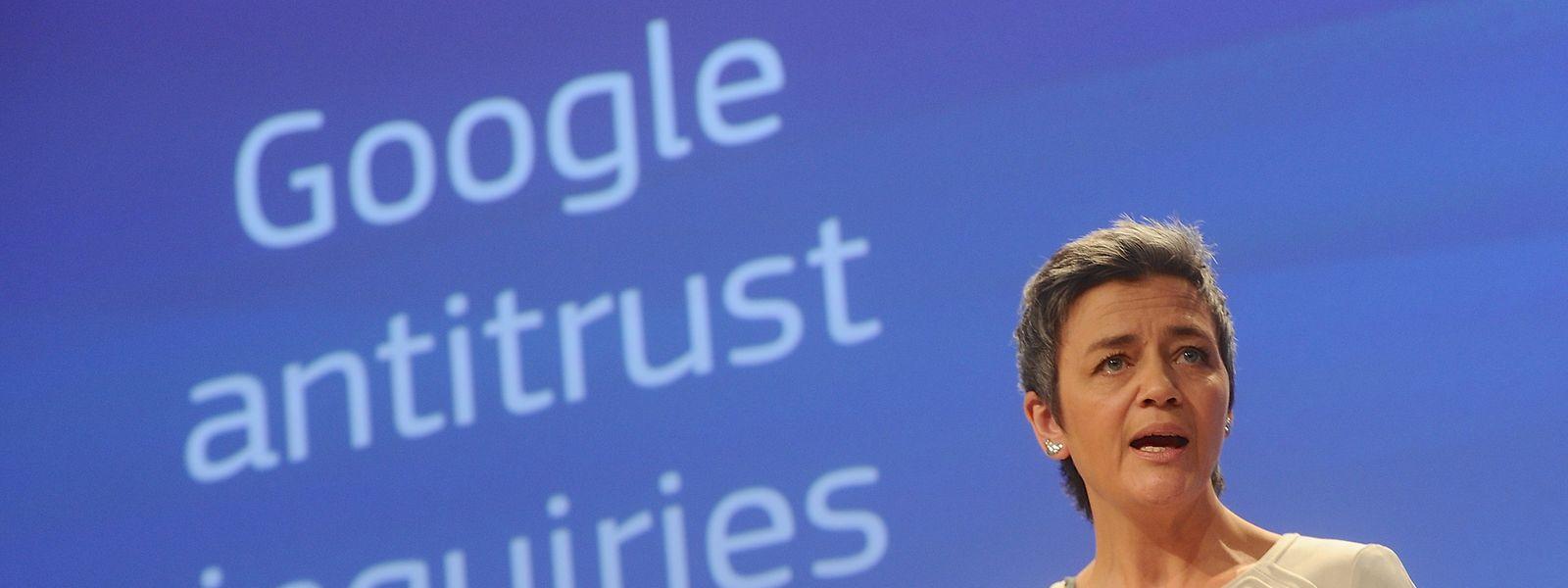 Margrethe Vestager, commissaire européenne à la Concurrence, s'apprête à frapper une nouvelle fois Google pour abus de position dominante.