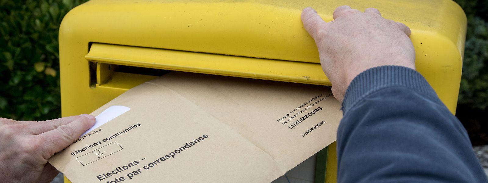 Seit den Legislaturwahlen 2018 kann jeder Wahlberechtigte per Briefwahl seine Stimmen vergeben.