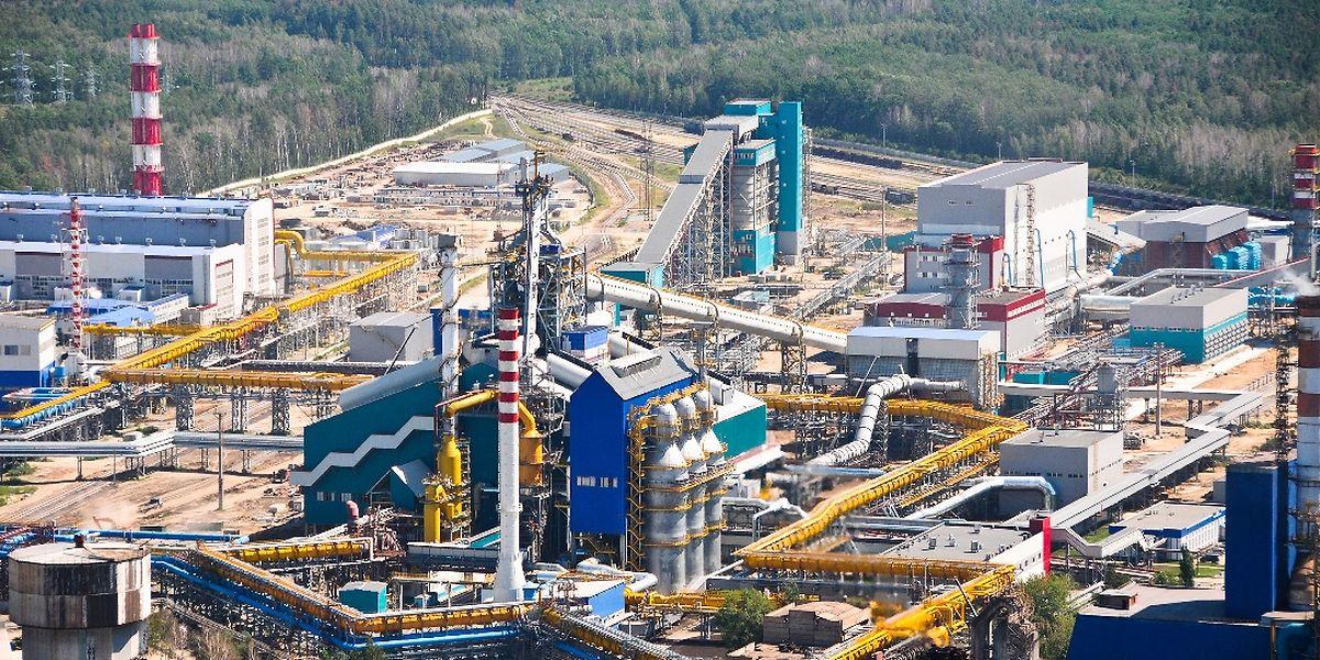 Der Hochofen Nr. 7 bei der Firma Iron & Steel in Novolipetsk/Russland, der durch die Paul Wurth Gruppe gebaut wurde.