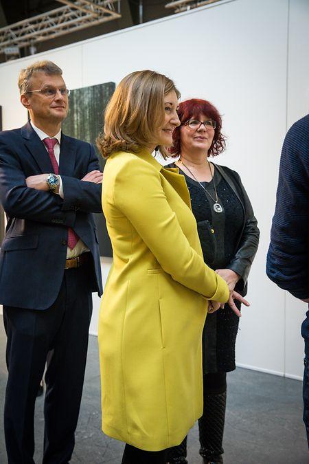 Erbgroßherzogin Stéphanie bei der Eröffnung des Cercle Artistique de Luxembourg am 12. November.