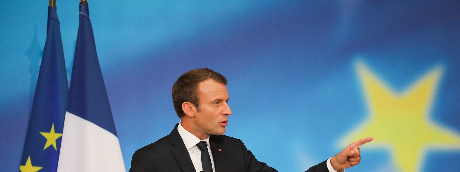 """Emmanuel Macron fordert eine """"gemeinsame strategische Kultur"""" im Verteidigungsbereich."""