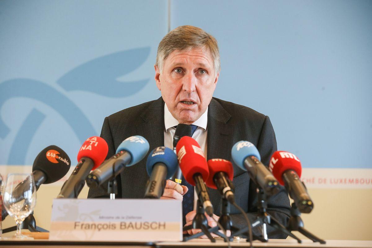 François Bausch à la conférence de presse.