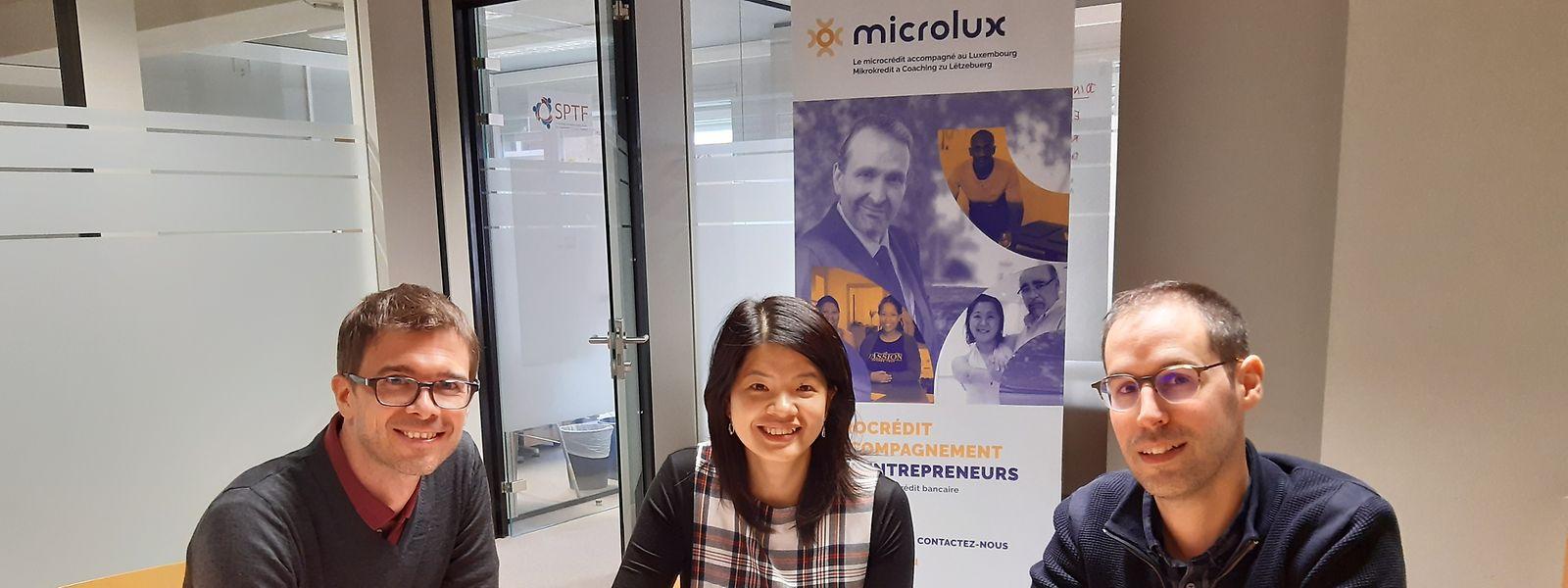A equipa Microlux_da esquerda para a direita_Samuel Paulus, Anh-Quyen Ngo-Li, Jérémy Del Rosario