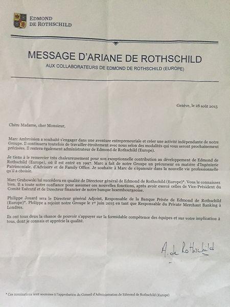 """Une communication de la présidente dont le """"Luxemburger Wort"""" a eu copie."""