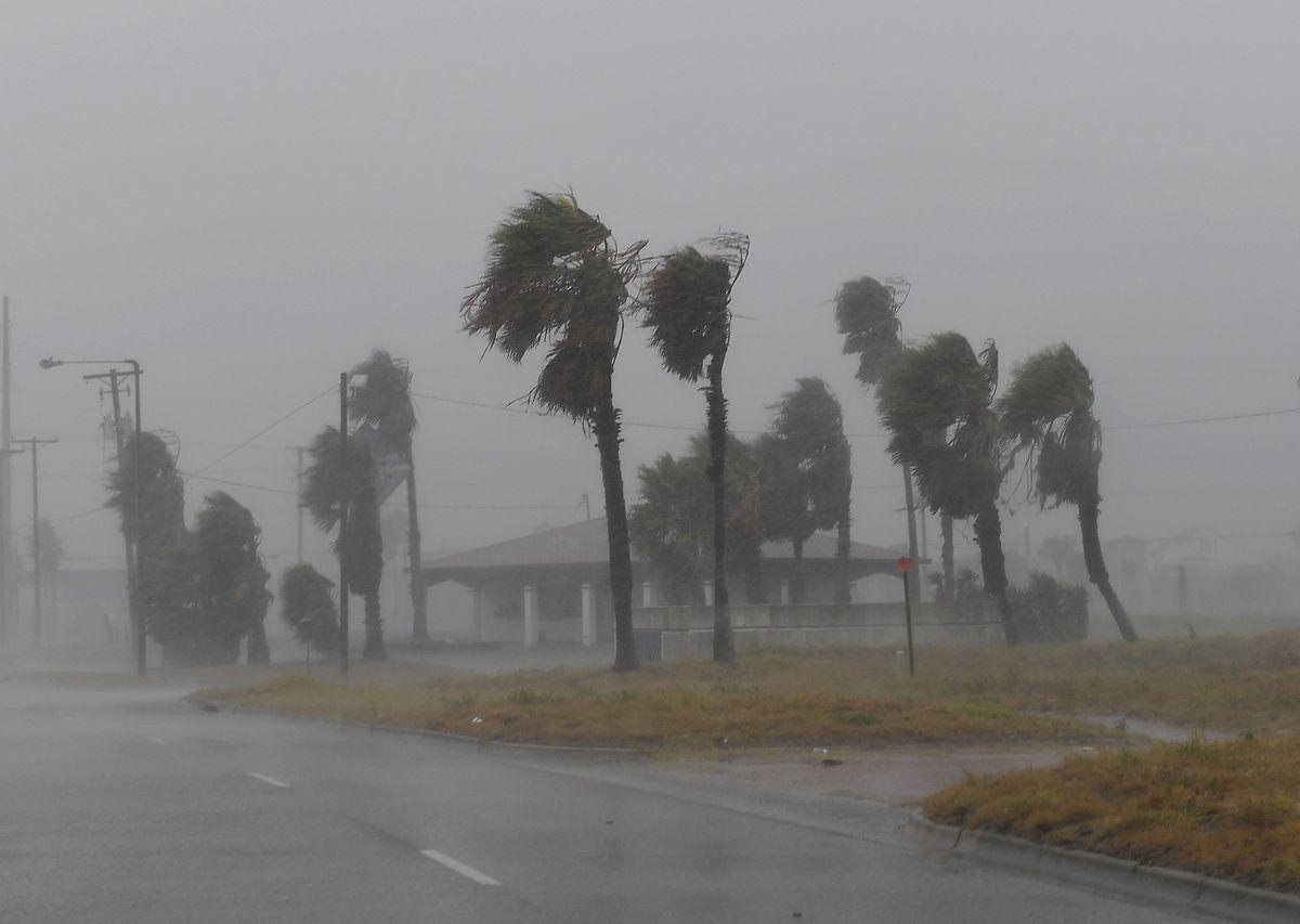 Starke Winde gingen dem Hurrikan voraus.