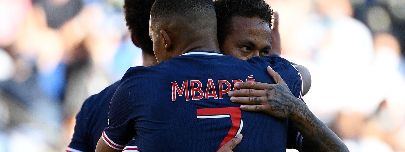 Beim 4:0-Testspielsieg gegen Celtic Glasgow präsentierten sich Neymar und Kylian Mbappé sehr spielfreudig.