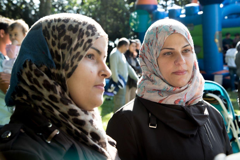 Soumia et Hiba sont belles-soeurs et sont arrivées au Luxembourg il y a quelques semaines après un périple qui a duré plus de deux ans.