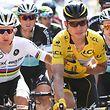 Tony Martin (D/Etixx-Quick Step) mit seinem Teamkollegen Michal Kwiatkowski (PL) - Tour de France 2015 – 6. Etappe Abbeville / Le Havre – Foto: Serge Waldbillig