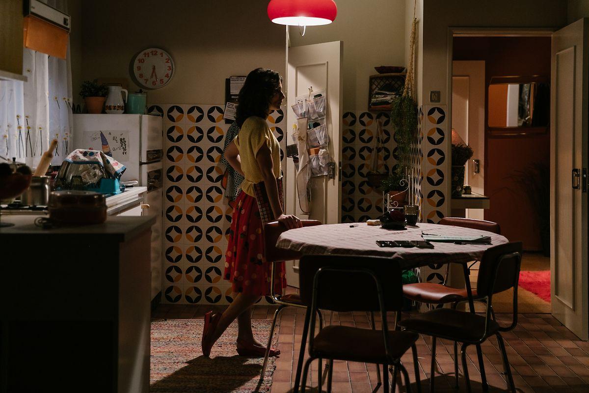 Ritta Brutt (Isabel) em casa.