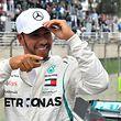 Lewis Hamilton strahlte nach seiner zehnten Pole Position der Saison.