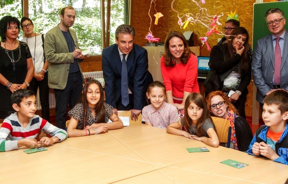 Die Kinder werden im Centre Héliar unterrichtet. Am Mittwoch präsentierten sie den Ministern stolz ihre Sprachkenntnisse.