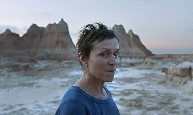 Frances McDormand is the lead character in Chloé Zhao's masterful Nomadland