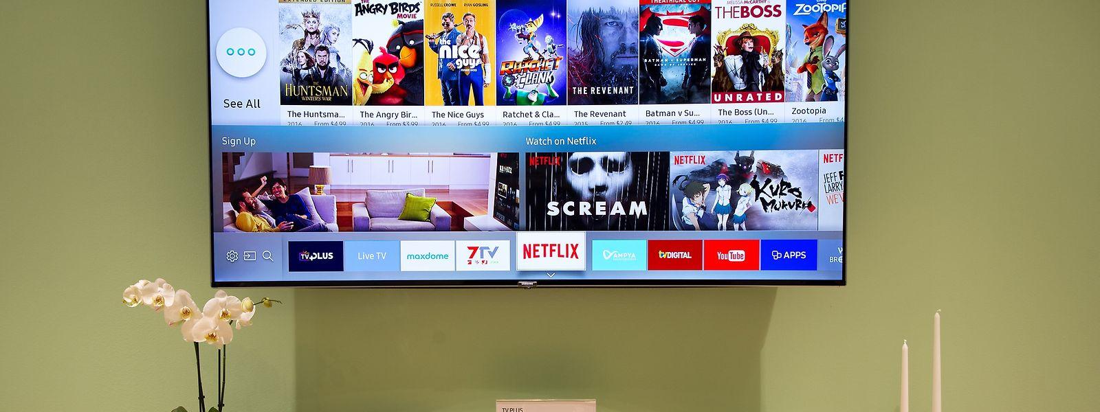 Visuelle Menüauswahl: Beim neuen Smart-TV hat sich die Bedienung erheblich vereinfacht.