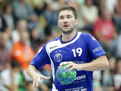 Josip Ilic (HB Duedelingen)/ Handball, Sales-Lentz League, Luxemburg, 1. Spieltag, Saison 2016-2017 / 24.09.2016 /Handball Kaerjeng - HB Duedelingen / Hall sportif, Obercorn /Foto: Ben Majerus