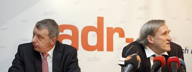 Gehen in verschiedene Richtungen: ADR-Parteipräsident Fernand Kartheiser (links) und der Abgeordnete Jean Colombera.