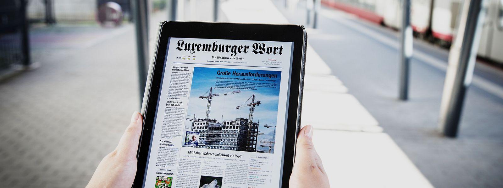 """Das """"Luxemburger Wort"""" kann seine Reichweite stabilisieren. Dazu trägt auch die zunehmende Nutzung der E-Paper-Ausgabe bei."""