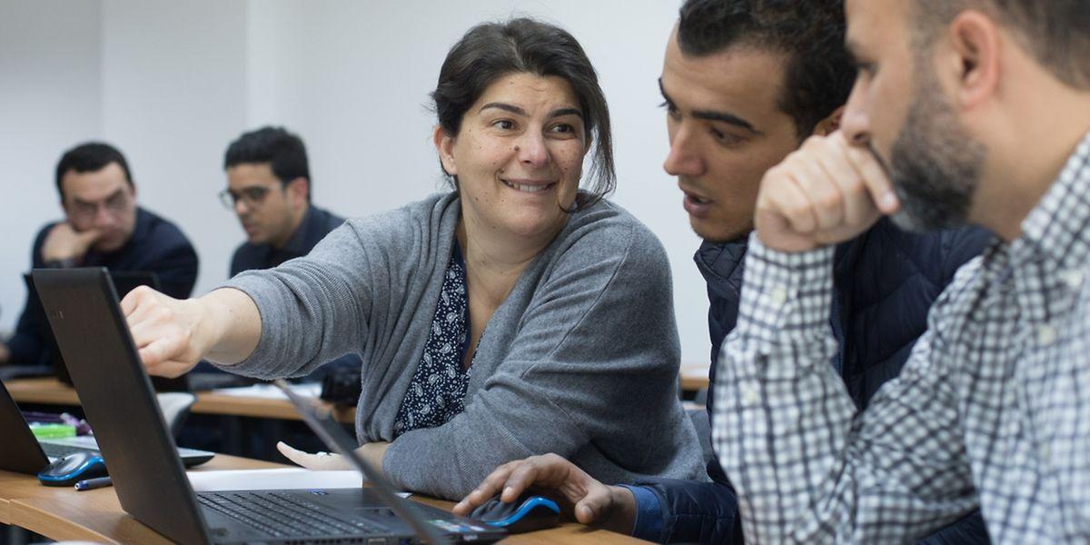 Teilnehmer der Mikrofinanzschulung in Tunis.